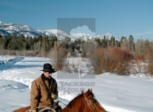 Cowboy im Schnee