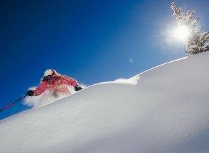 Skifahrerin in Aspen