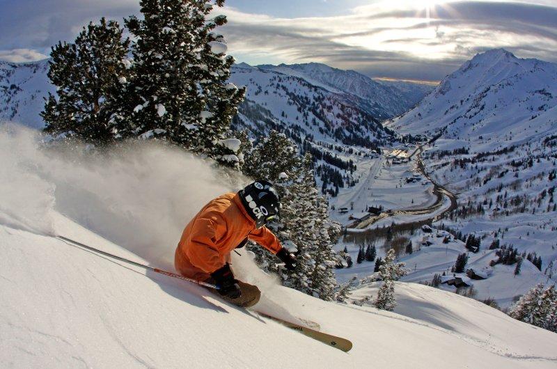 Utah Skifahrer