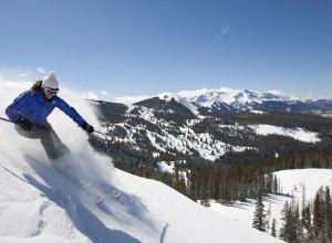 Skifahrer Genuss