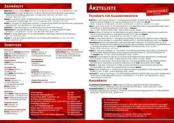 Ärzteliste Oberstdorf Stand 2019