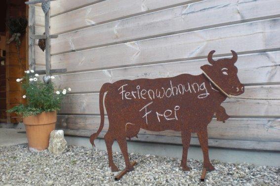 Allgäuer Kuh aus Metall