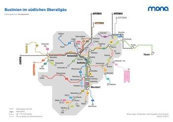 ÖPNV Streckennetz OA