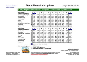 Busfahrplan Sommer 2018 Spielmannsau