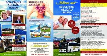 2019 Flyer bequem ins Allgäu reisen