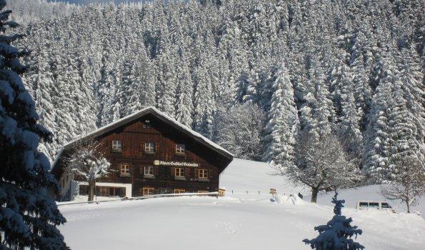 Berggasthof Gaisalpe im Winter