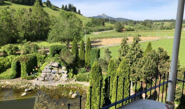 Ausblick Balkon Ferienwohnung Smaragd