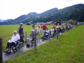 Ausflug mit dem Rollstuhl