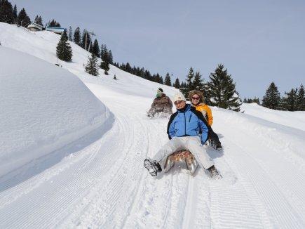 Bad Hindelang Tourismus Wolfgang B. Kleiner Rodeln am Imberger Horn 2345