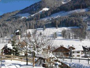 Blick zur Dorfmitte in Schöllang