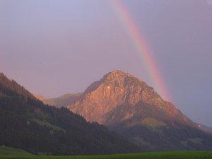 Regenbogen am Rubihorn