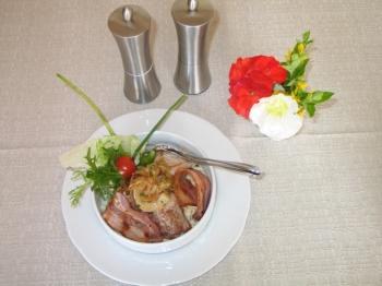 Rubinger Leckerle- Schweinelendchen auf Kässpätzle