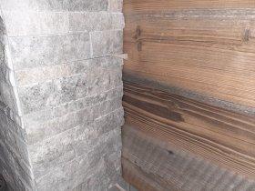 Kombination Stein und Altholz