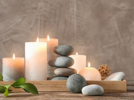 Kerzen mit Steine
