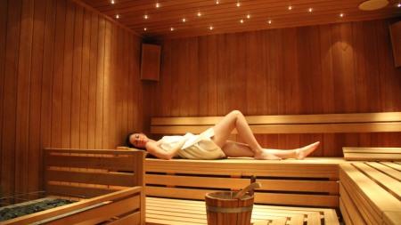 Finnische Sauna mit Sternenhimmel