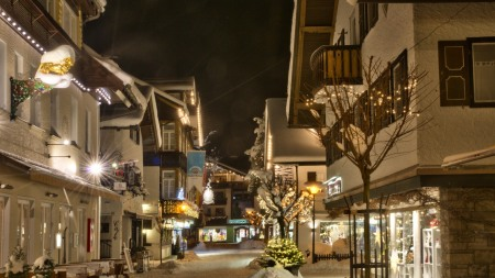 Oberstdorfer Zentrum im Winter