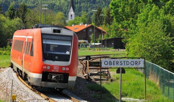 Mit der Bahn nach Oberstdorf