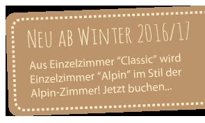 Banner Webseite Einzelzimmer Alpin