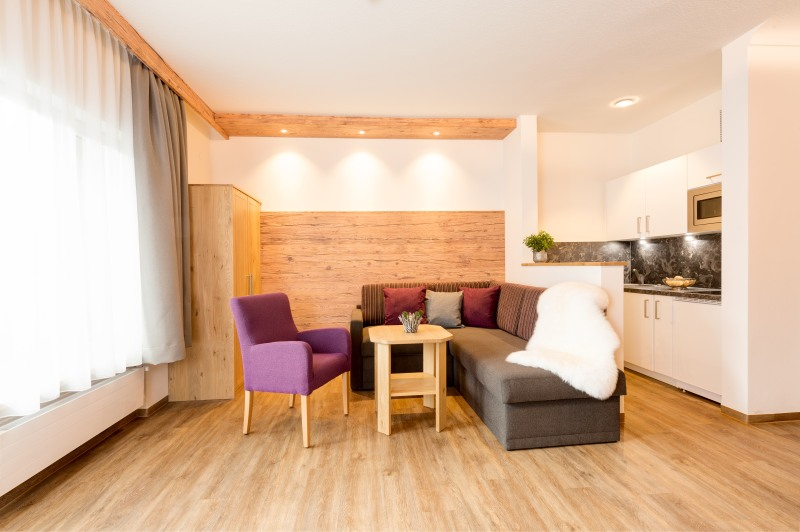 Wohnzimmer in der Suite Alpin Komfort