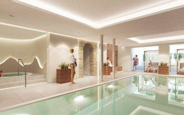 Schwimmbad mit Whirlpool und neuer Liegefläche