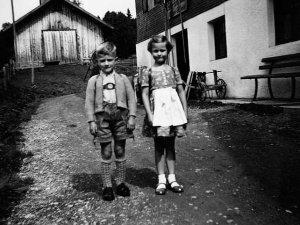 Gerhard Schittler mit seiner Freundin - 1962