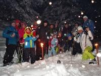 Fackel-Schneeschuhwanderung