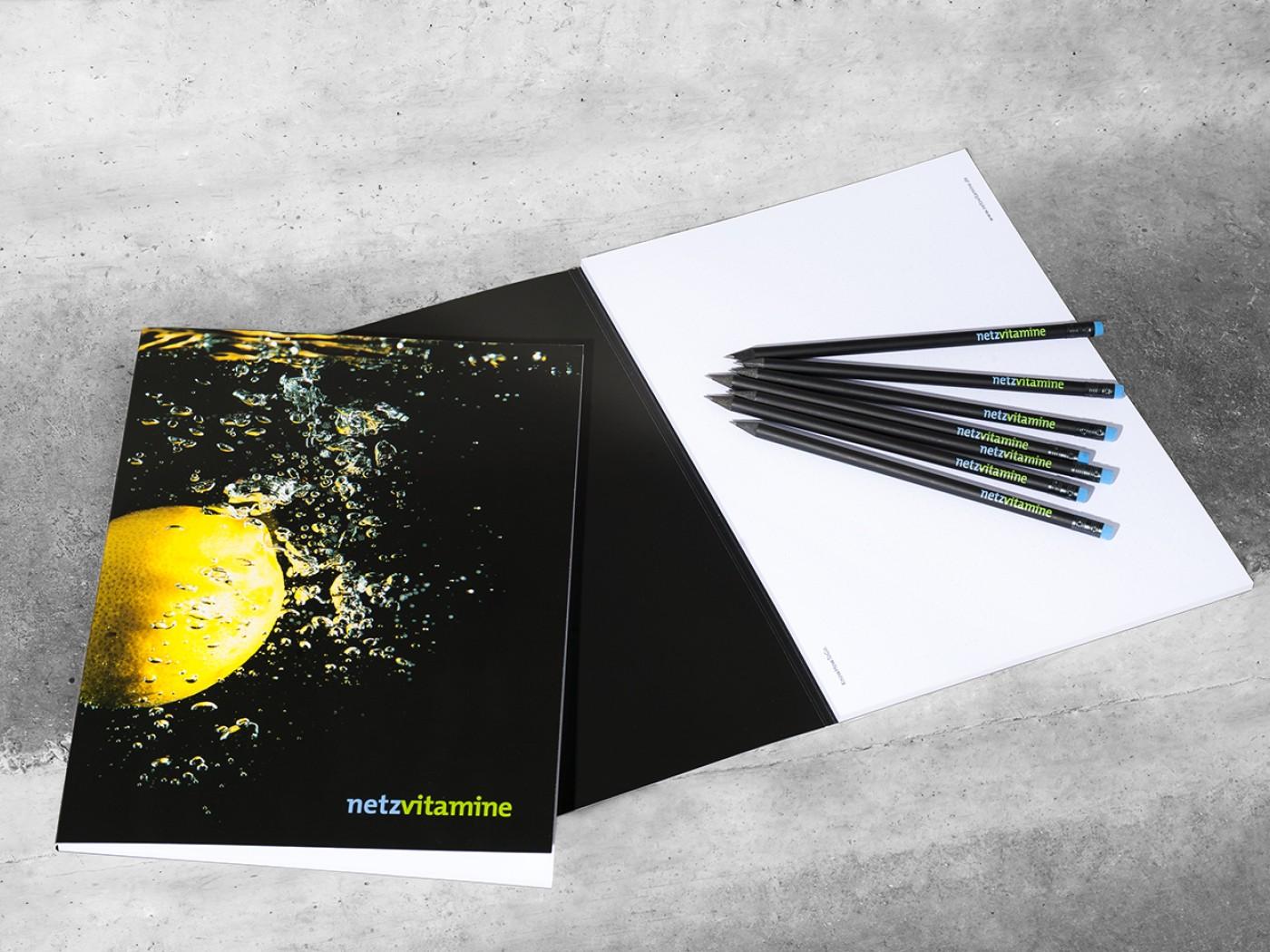 netzvitamine Block und Bleistifte