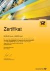 Zertifikat der Deutschen Post AG