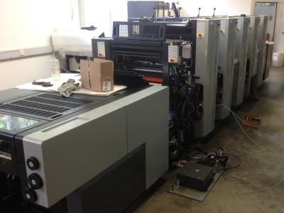 Heidelberger Druckmaschine in der Druckhalle (c) Schöler Kreativ