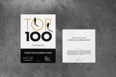 Unsere TOP100 Urkunde