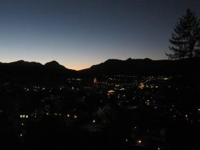 Oberstdorf in der Dämmerung