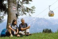 Hörnerbahn mit Wanderern