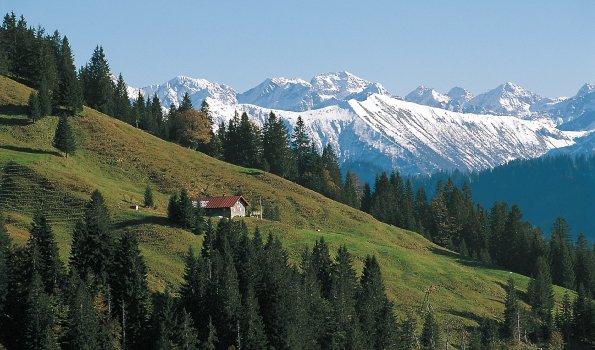 Berghütte mit Panorama