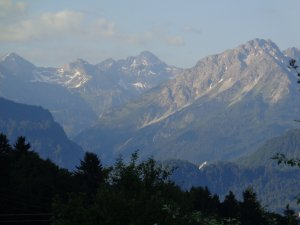 Blick vom Balkon zur Schiflugschanze