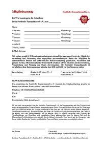 SfZ Mitgliedsantrag