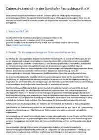 Datenschutzrichtlinie der Sonthofer Fasnachtszunft e.V.