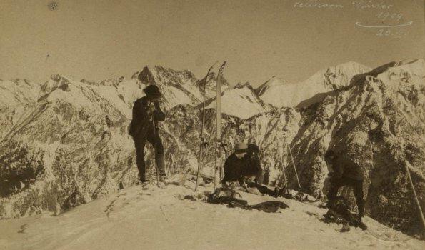 Elsa Vogler am Fellhorn 1909