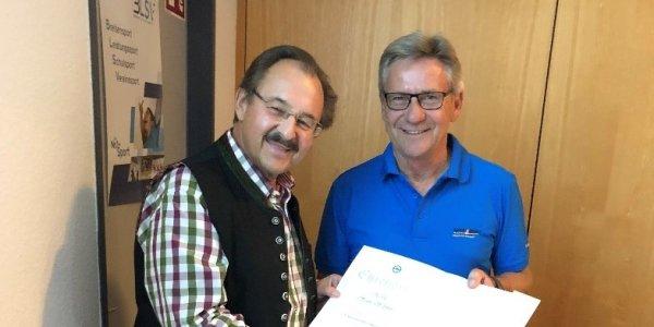 DSV- Ehrenbrief für Hans Schmid