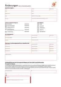 Änderungsformular PDF