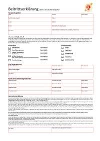 Beitrittserklärung PDF