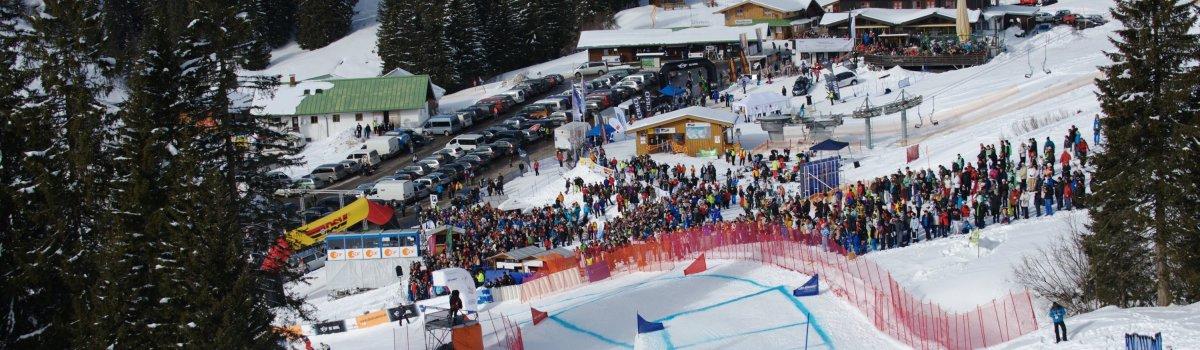 Die Ski Cross Strecke im Skiparadies Grasgehren