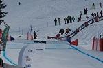Sprung beim Ski Cross in Grasgehren