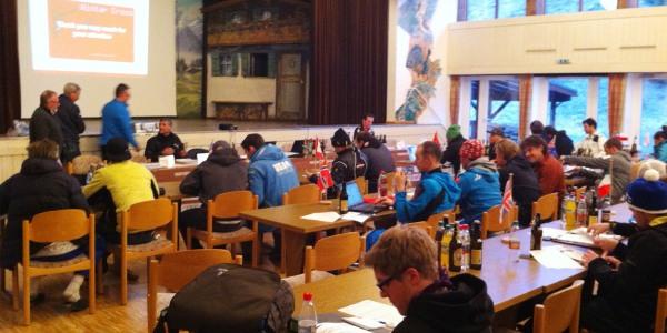 Mannschaftsführersitzung in Obermaiselstein