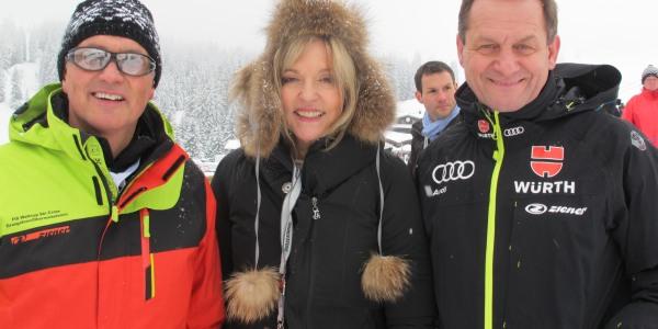 Peter Stehle, Dr. Beate Merk und DSV-Präsident Alfons Hörmann