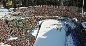 Das Stadion der Skiflug-WM 2008