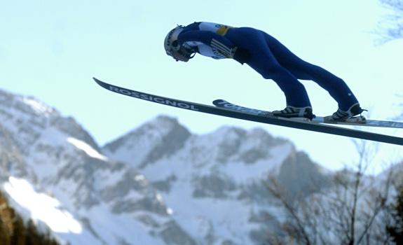 Sprung über die Oberstdorfer Bergwelt