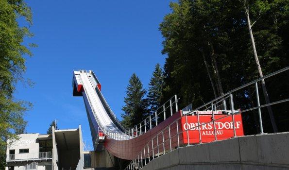Die umgebaute Heini-Klopfer Skiflugschanze