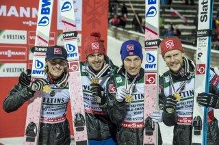 Skiflug WM Team - Weltmeister Norwegen