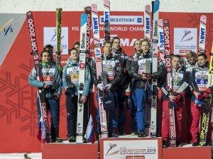 Skiflug WM Team - Siegerehrung