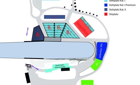 Stadionplan Weltcup Skifliegen 2019